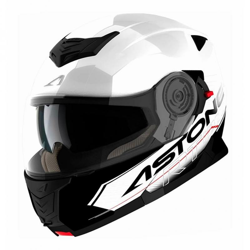 Casque Modulable Astone Rt 1200 Graphic Touring blanc/noir