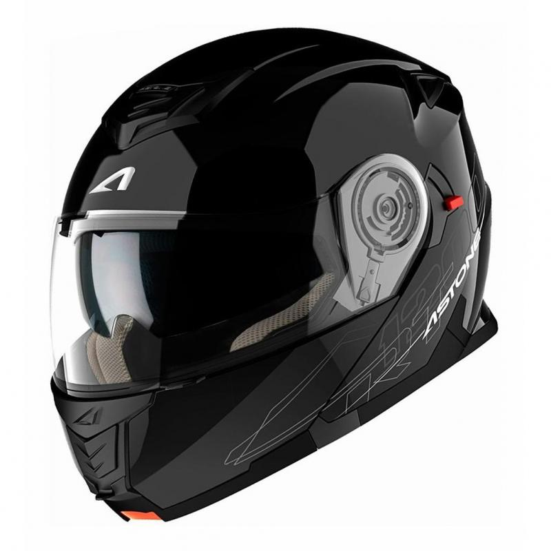 Casque Modulable Astone Rt 1200 Mono noir gloss