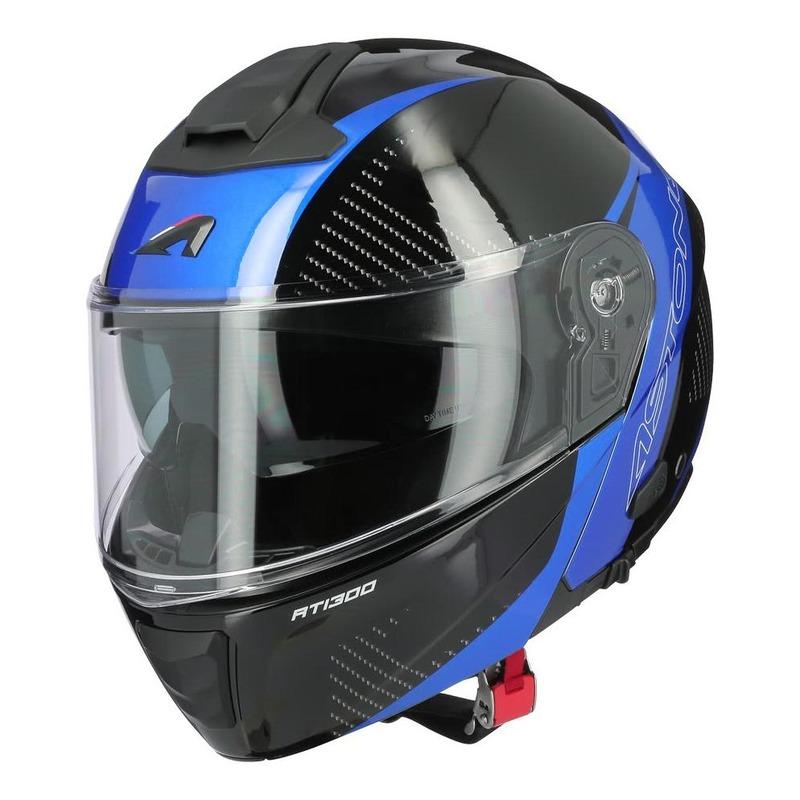 Casque modulable Astone RT1300F noir carbone/bleu brillant