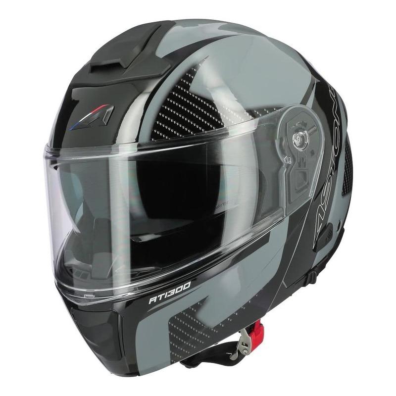 Casque modulable Astone RT1300F noir carbone/gris brillant