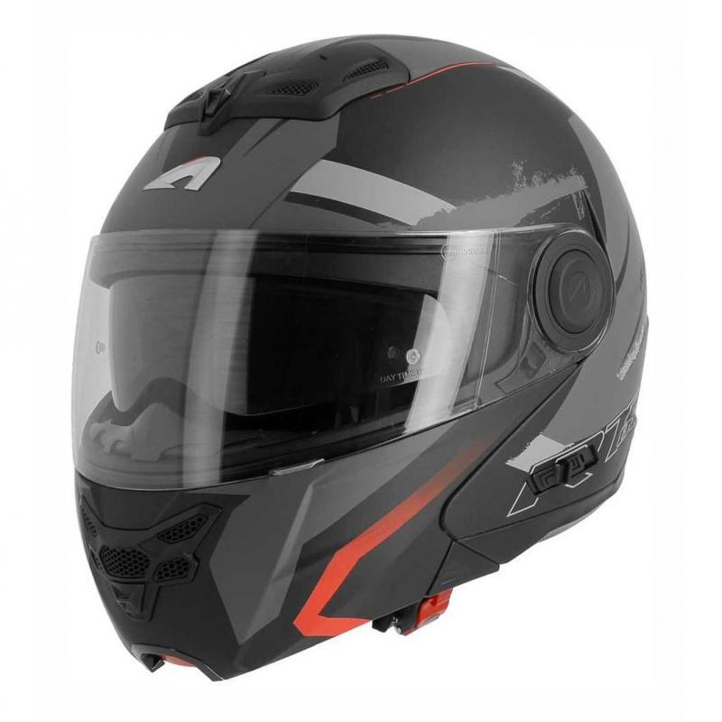 Casque modulable Astone RT800 exclusive ENERGY mat noir/rouge