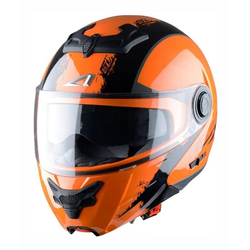 Casque Modulable Astone Rt800 Graphic Venom noir/orange mat