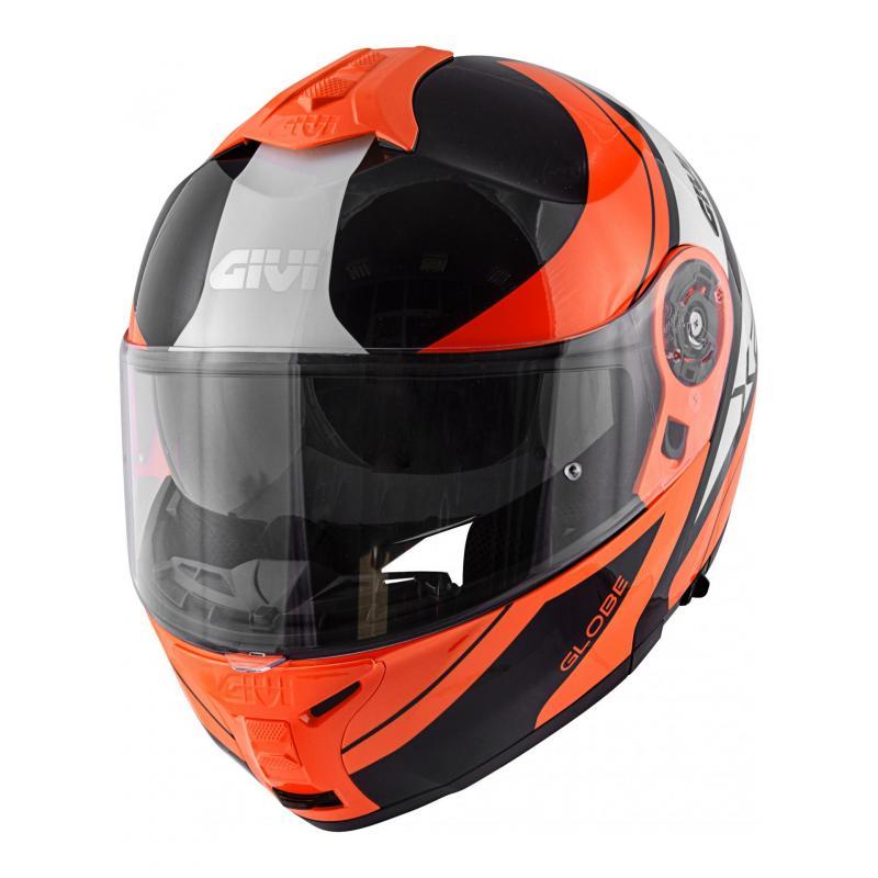 Casque modulable Givi x.21 Challenger Globe noir/orange