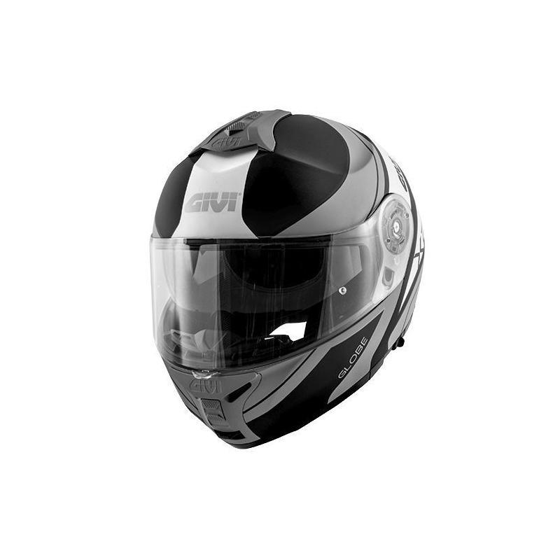 Casque modulable Givi X.21 Challenger Graphic Globe noir mat/titanium