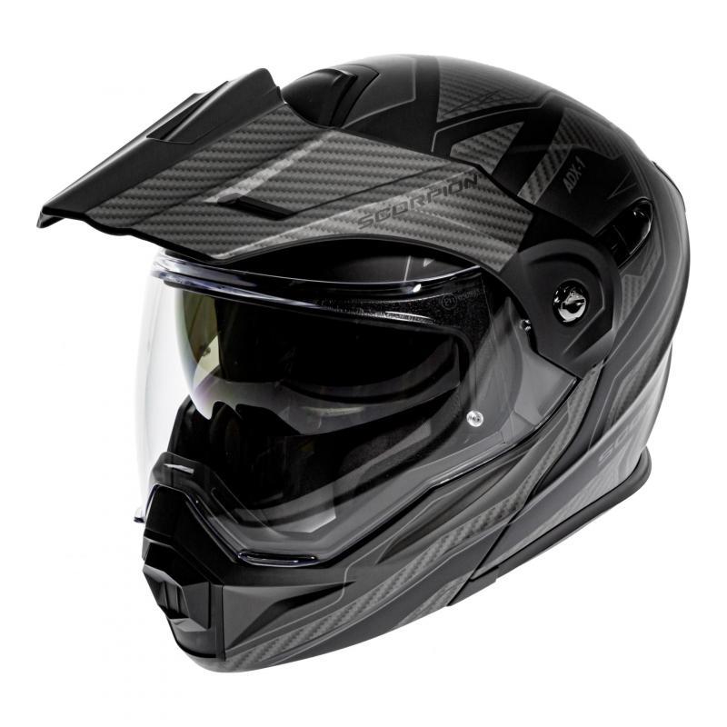 Casque modulable Scorpion ADX-1 Tucson noir/carbone noir mat