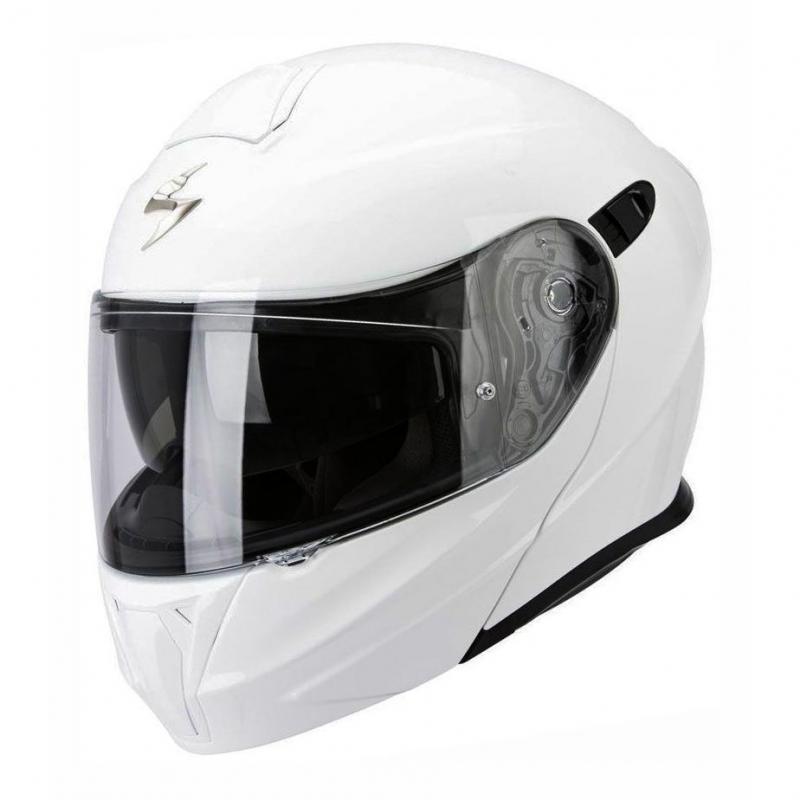 Casque modulable Scorpion EXO-920 Solid Blanc