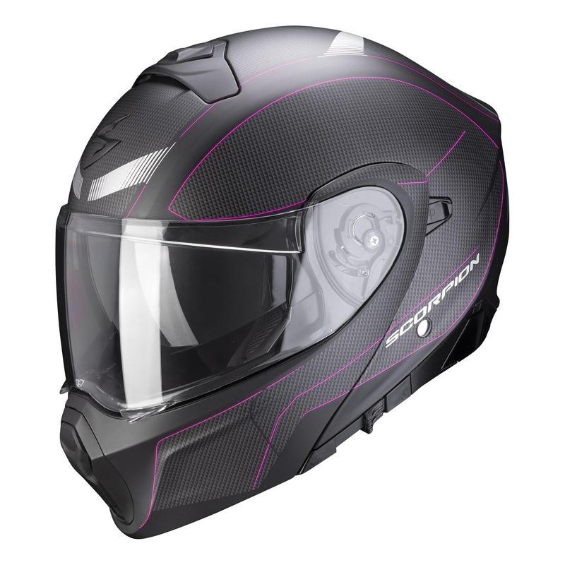 Casque modulable Scorpion EXO-930 Cielo Mat noir/rose