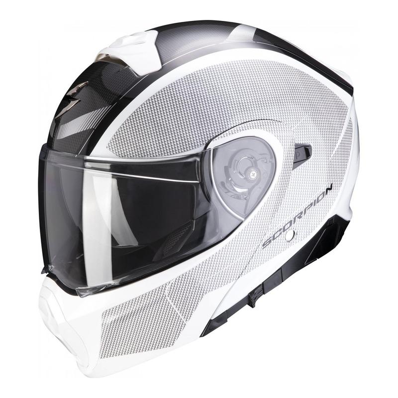 Casque modulable Scorpion EXO-930 Cielo nacré blanc/noir
