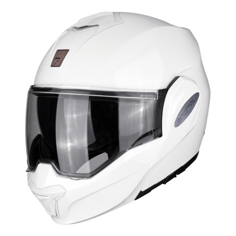 Casque modulable Scorpion Exo-Tech Solid blanc