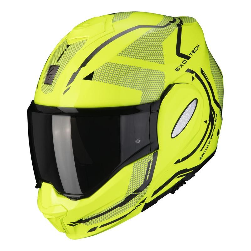 Casque modulable Scorpion EXO-Tech Square jaune fluo/noir