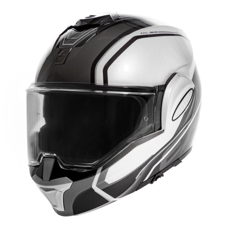 Casque modulable Scorpion Exo-Tech Time Off Pearl blanc/argent