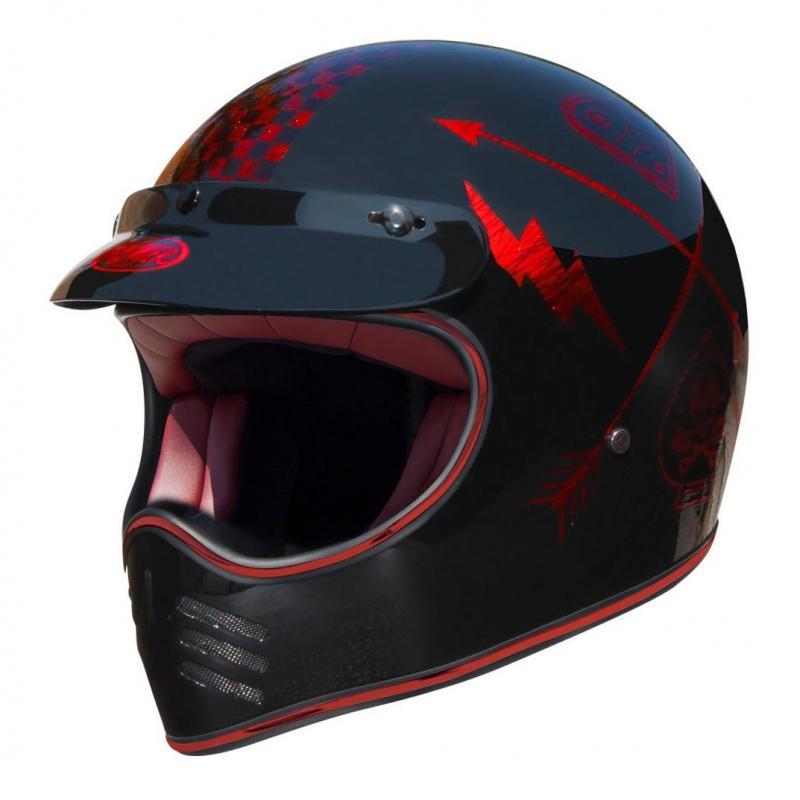 Casque Premier MX NX rouge chrome