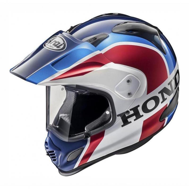 Casque trail Arai Tour-X 4 Honda Africa Twin bleu/blanc/rouge
