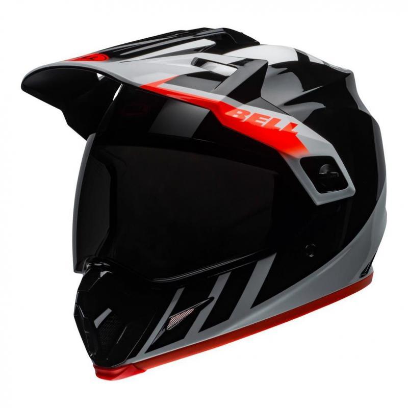 Casque trail Bell MX-9 Adventure Mips Dash brillant noir/blanc/orange