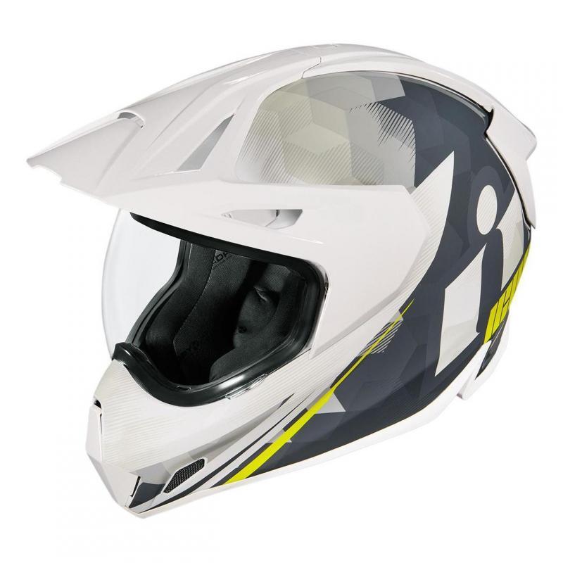 Casque trail Icon Variant Pro Acension™ blanc/gris/jaune