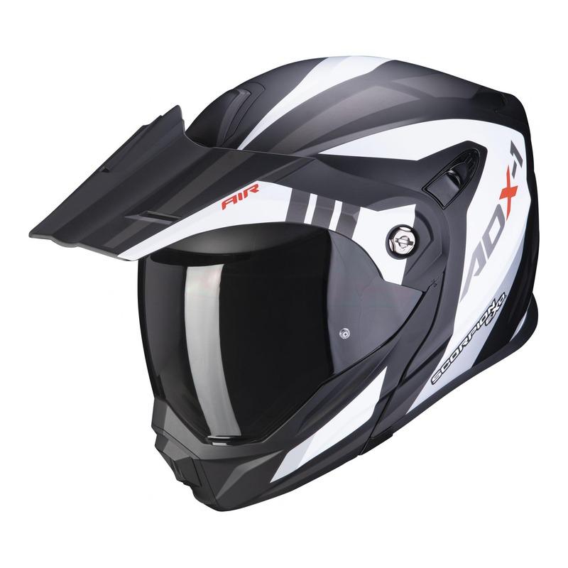 Casque trail Scorpion ADX-1 Lontano Mat blanc/noir