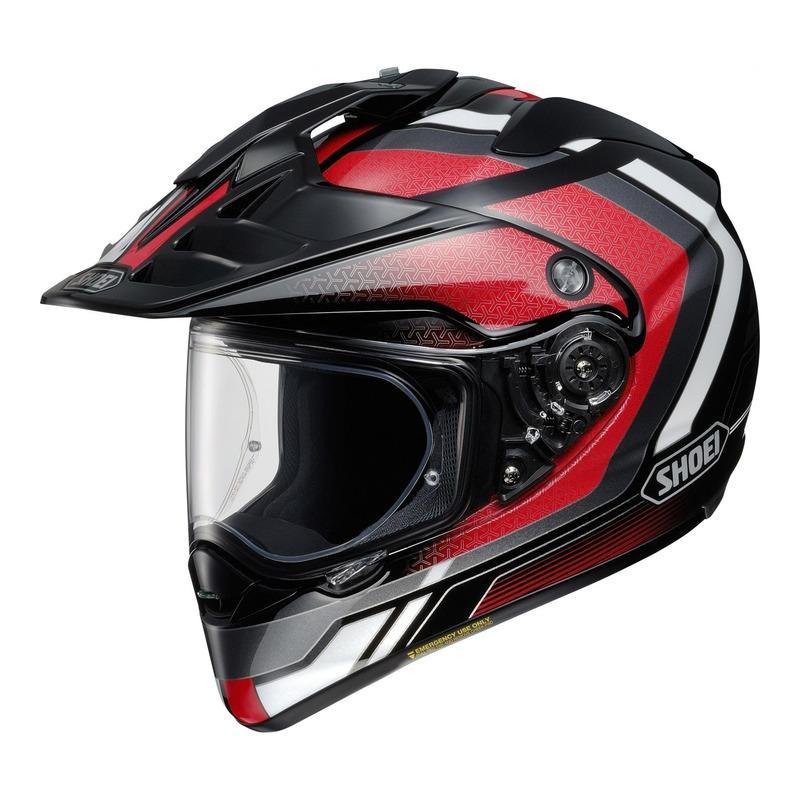 Casque trail Shoei Hornet ADV Sovereign TC-1 noir/rouge/blanc