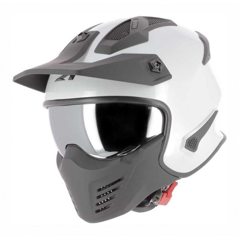 Casque transformable Astone Elektron blanc pearl
