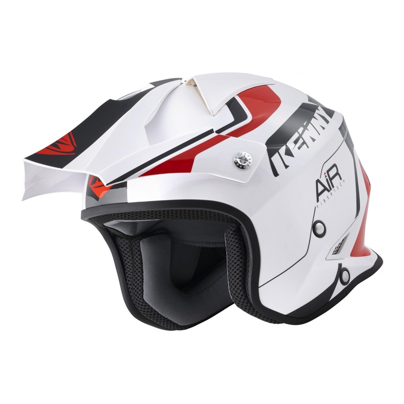 Casque trial Kenny Trial Air Graphic blanc/rouge brillant 2022