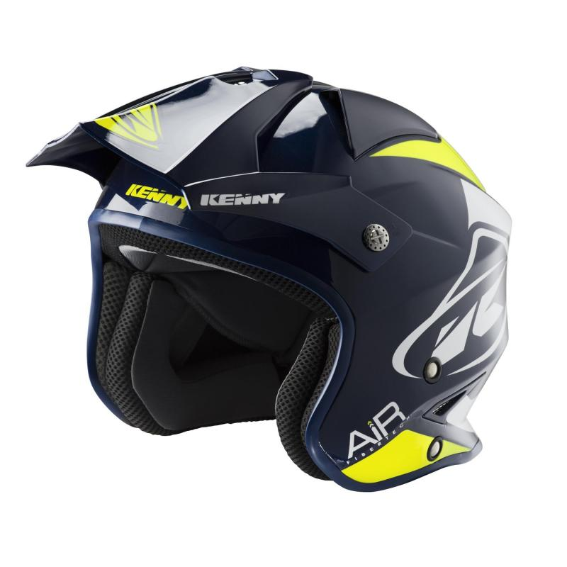Casque trial Kenny Trial Air Graphic navy/jaune fluo