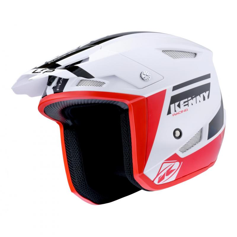 Casque trial Kenny Trial-up noir/rouge