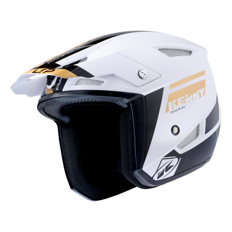 Casque trial Kenny Trial-up or/blanc