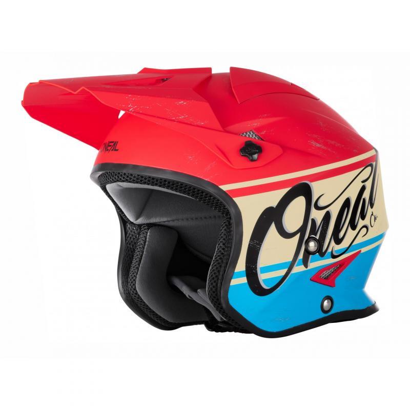 Casque trial O'Neal Slat VX1 rouge/bleu
