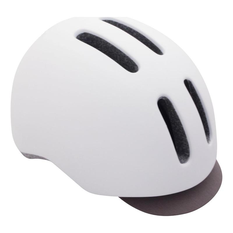 Casque vélo city Polisport Commuter blanc/gris mat avec lumière