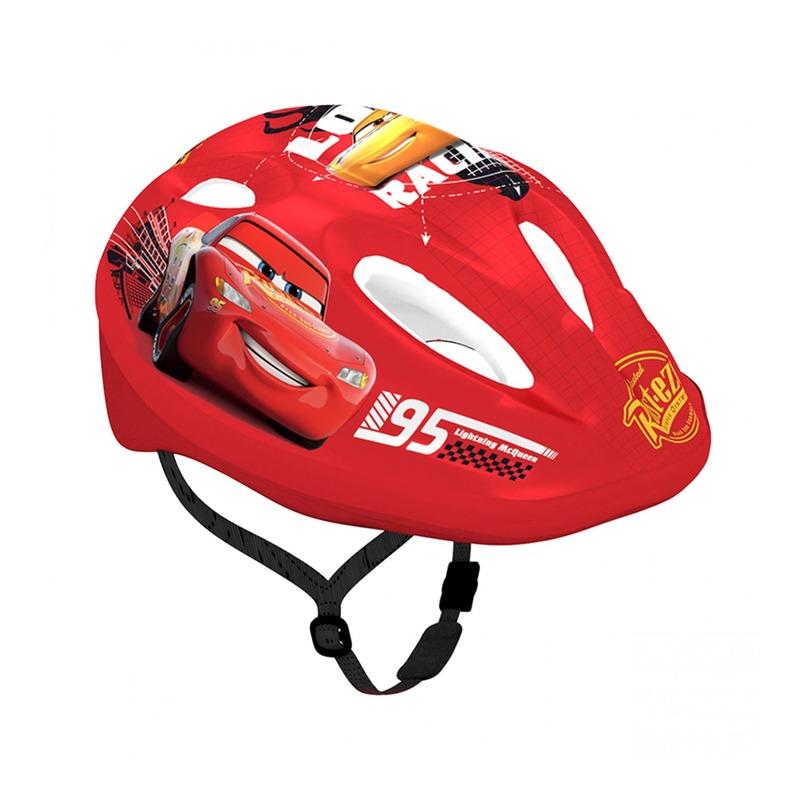 Casque vélo enfant Disney V2 Cars avec molette de réglage rouge (taille 52-56)