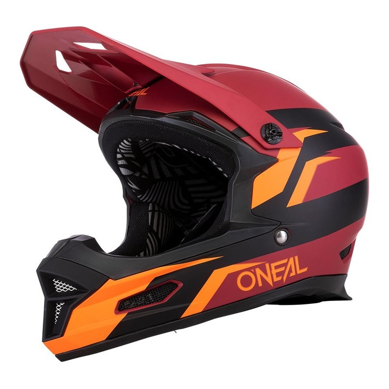 Casque vélo intégral O'Neal Fury Stage rouge/orange