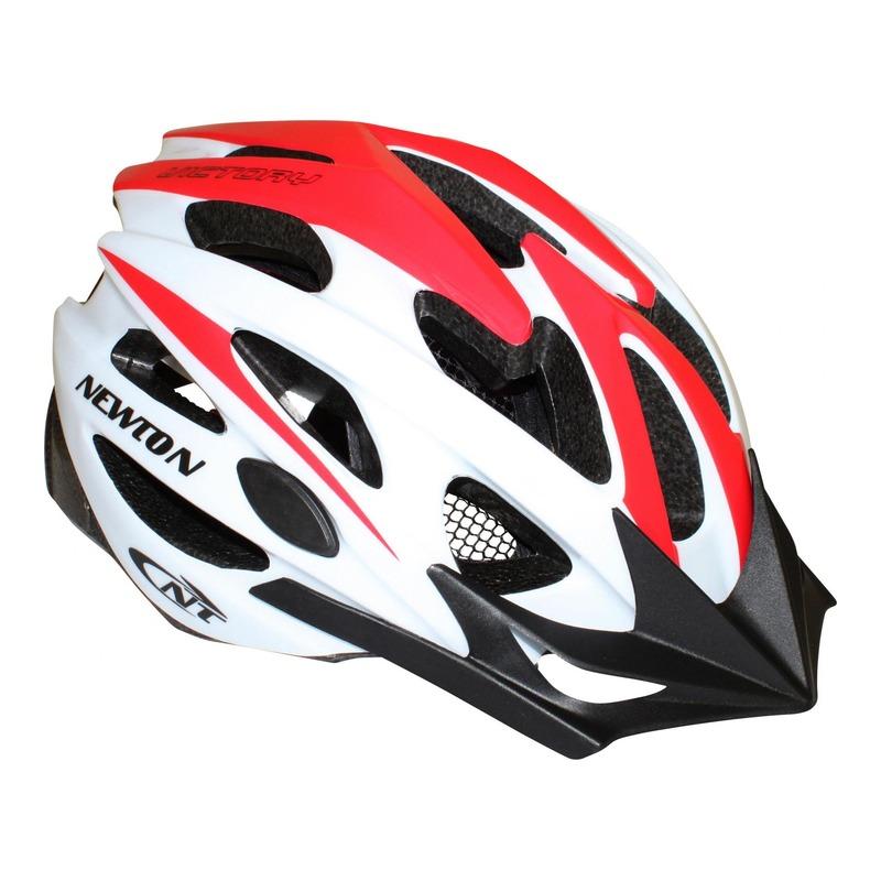 Casque vélo VTT Newton Victory rouge/blanc