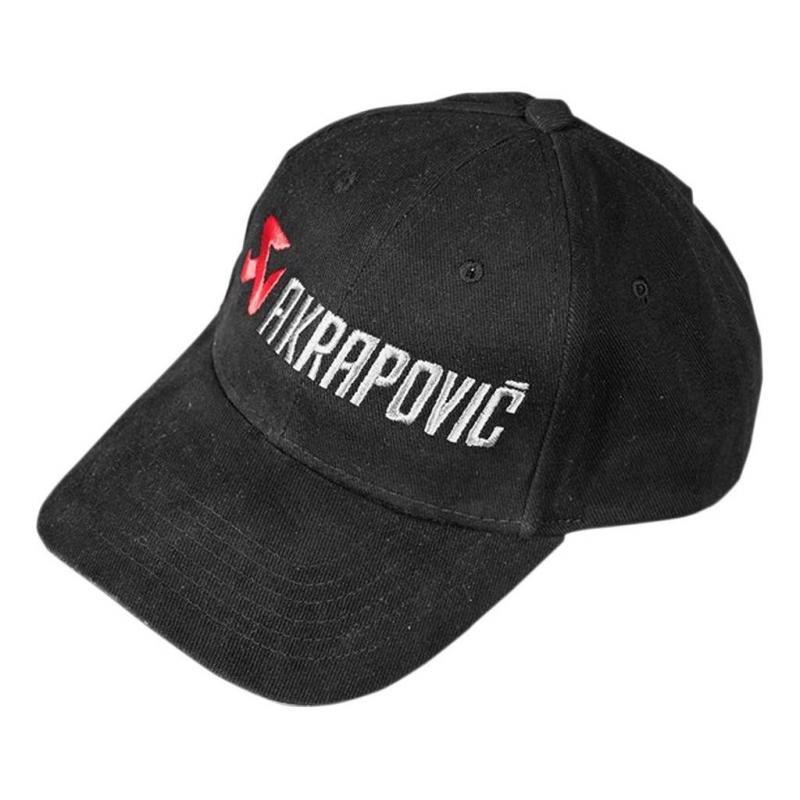 Casquette Akrapovic noire rouge/blanc