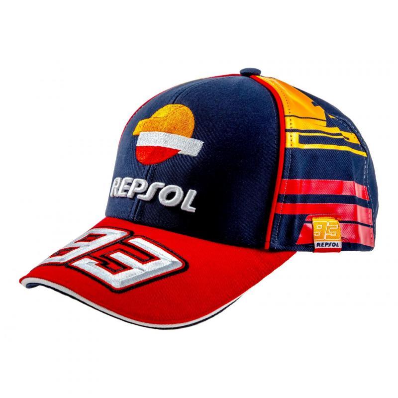 Casquette Baseball Andrea Repsol Marc Marquez navy/orange/rouge