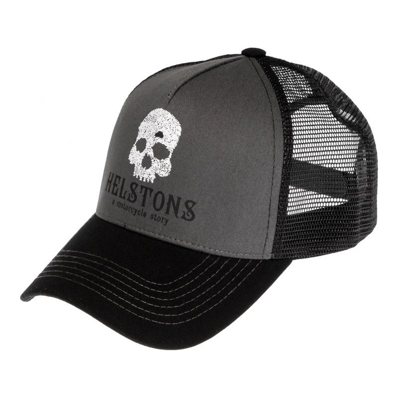 Casquette Helstons Skull noir/gris