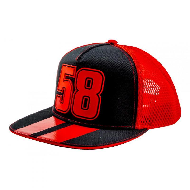 Casquette Plate Trucker Marco Simoncelli 58 noir/rouge