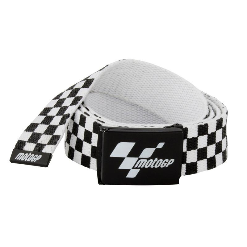 Ceinture MotoGP à damier noir et blanc