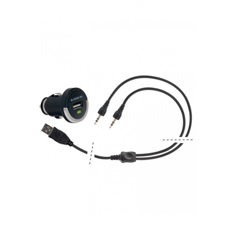 Chargeur de batterie allume cigare Cellularline + câble