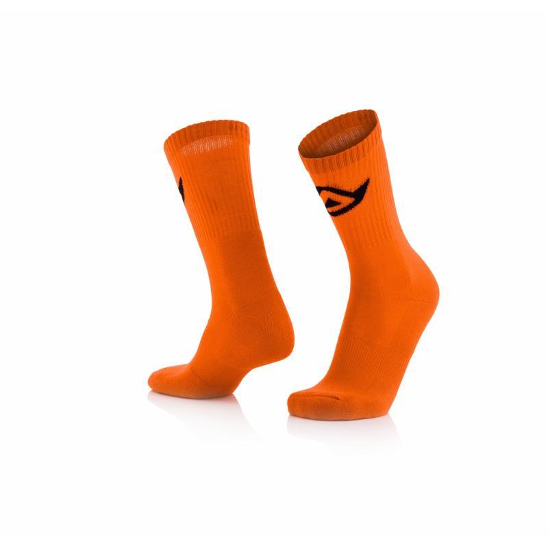 Chaussettes Acerbis en coton orange fluo