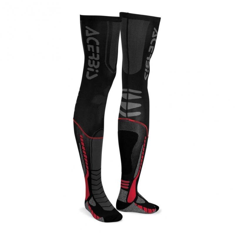 Chaussettes Acerbis X-Leg Pro noir/rouge