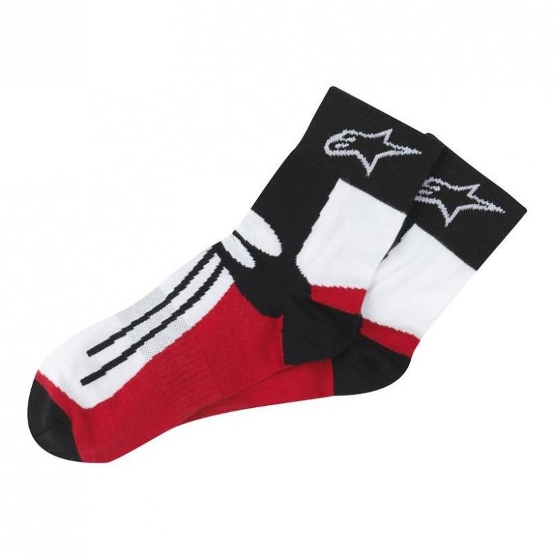 Chaussettes Alpinestars Racing Road Socks noir/rouge