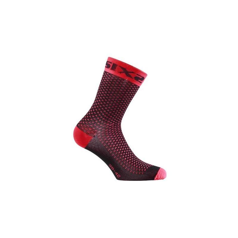 Chaussettes de compression Sixs Comp Sho rouge