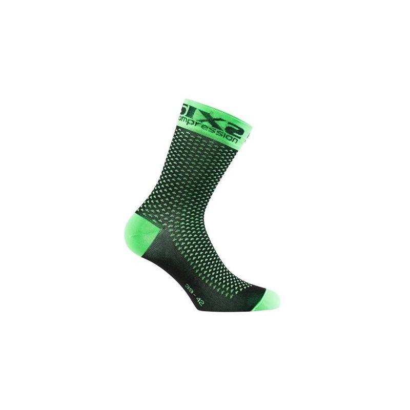 Chaussettes de compression Sixs Comp Sho vert fluo