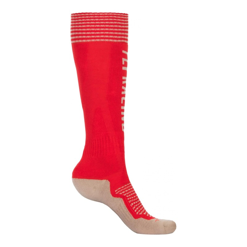 Chaussettes Fly Racing MX Pro Thick rouge/kaki