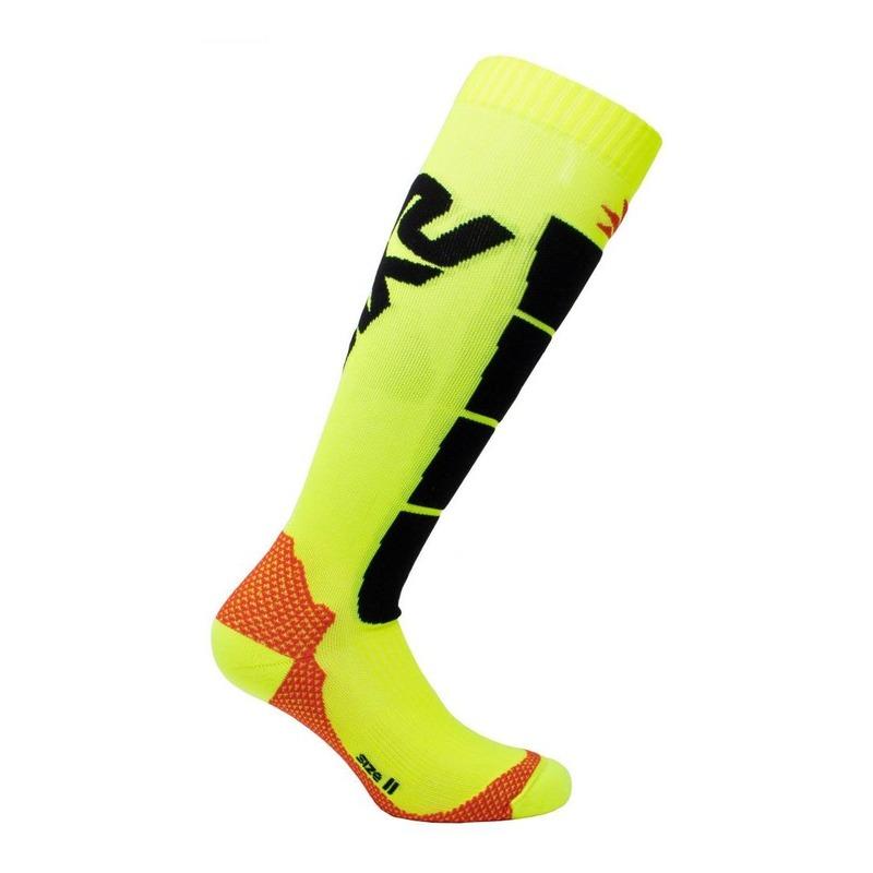 Chaussettes hautes Sixs Speed 2 jaune/noir