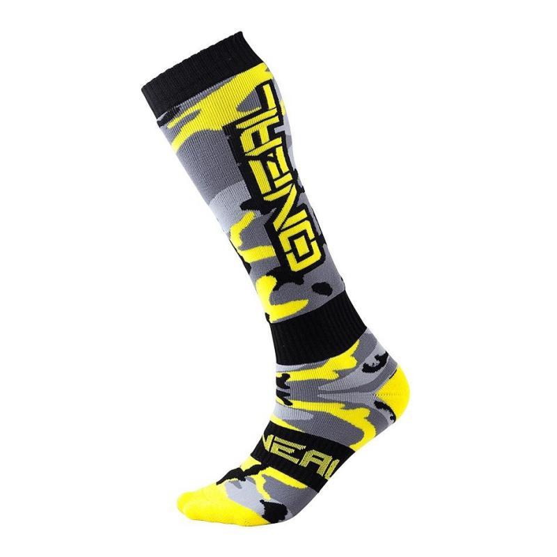 Chaussettes O'Neal Pro Mx Hunter noir/gris/jaune