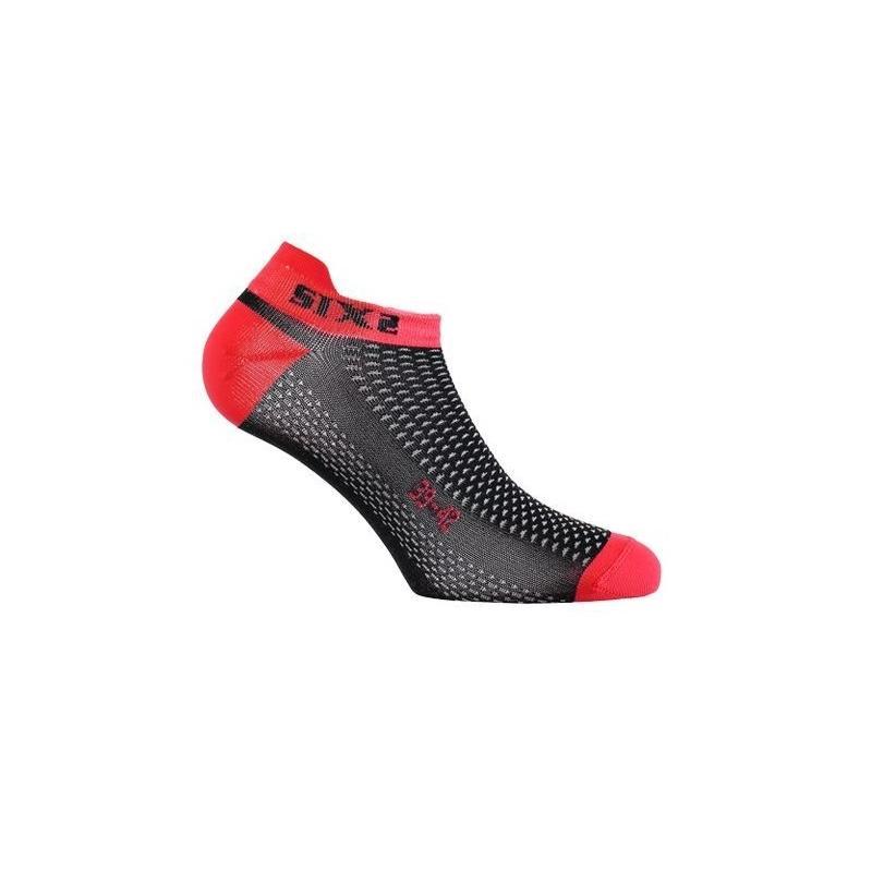 Chaussettes Sixs Fant S carbone/rouge