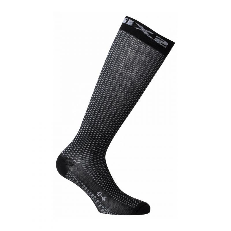 Chaussettes Sixs Long S carbon black
