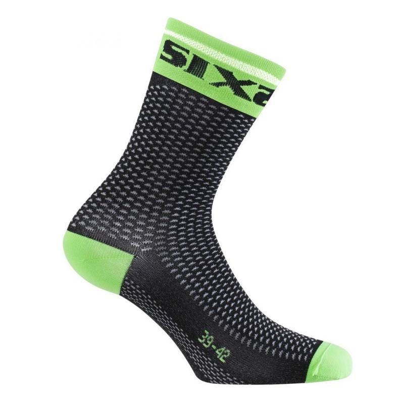 Chaussettes Sixs Short S carbone/vert