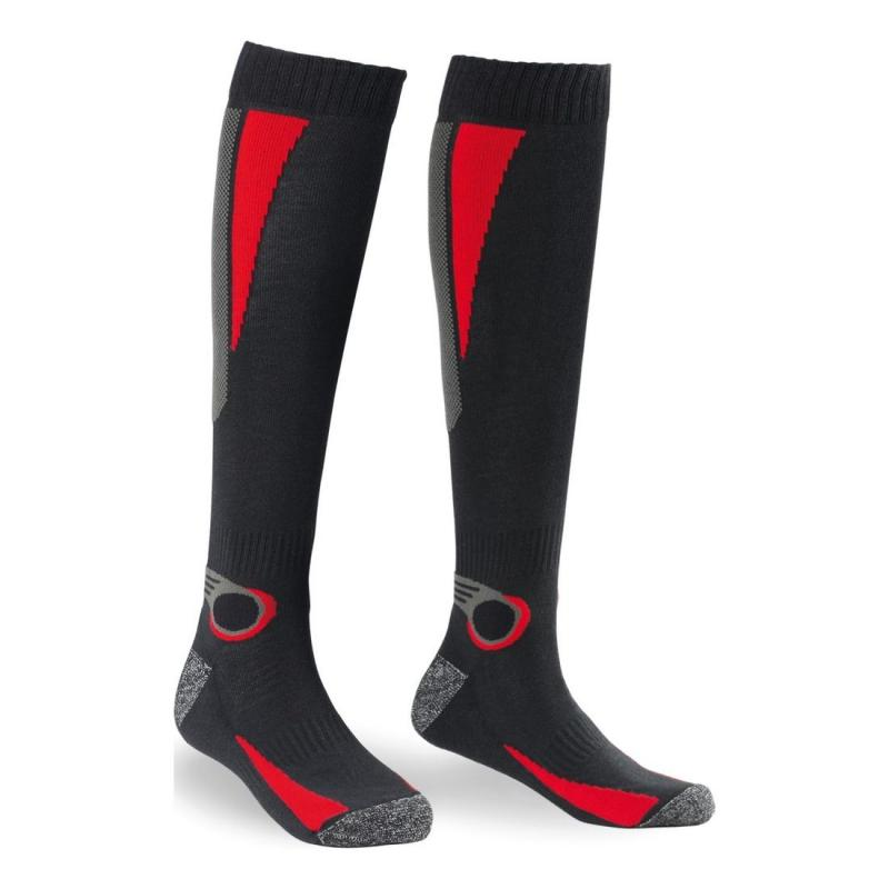 Chaussettes Spidi THERMO SOCKS noir/rouge