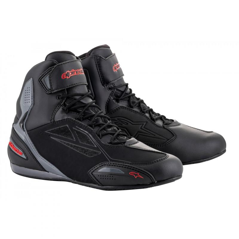 Chaussures moto Alpinestars Faster 3 Drystar noir/gris/rouge
